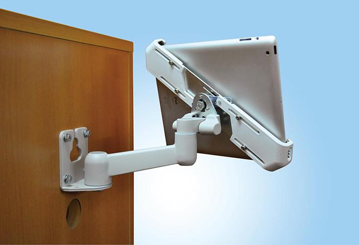 タブレット搭載用2軸タイプ 壁取付型 並行移動式アーム